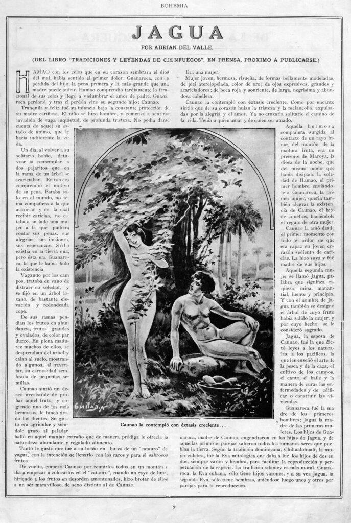 """Jagua. Revista """"Bohemia"""". Vol. X. Habana. Abril 20 de 1919. Número 16. Página 7.Jagua. Revista """"Bohemia"""". Vol. X. Habana. Abril 20 de 1919. Número 16. Página 7."""